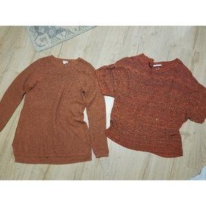 Terracotta orange burnt orange sweater bundle